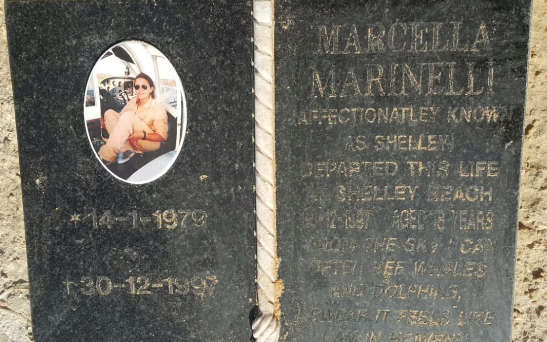 Marcella (Shelley) Marinelli's Plaque at Shelly Bay